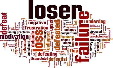 worthless: Loser word cloud concept. Vector illustration Illustration