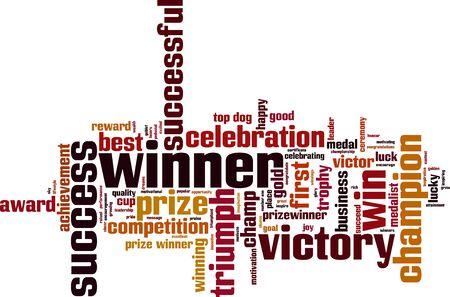 champ: Winner word cloud concept. Vector illustration