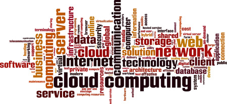 shared sharing: Cloud computing word cloud concept. Vector illustration Illustration
