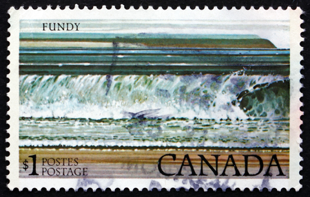 canada stamp: CANADA - CIRCA 1979: a stamp printed in the Canada shows Fundy National Park, circa 1979