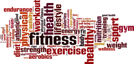 Fitness word cloud concept.