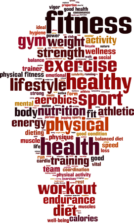 vigor: Fitness word cloud concept.