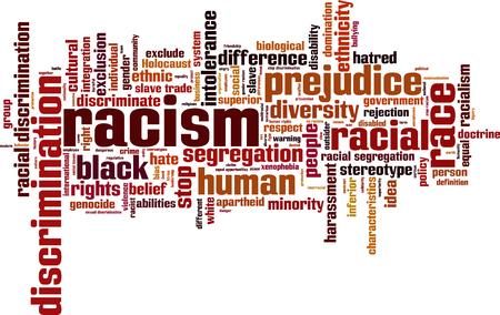 holocaust: Racism word cloud concept.