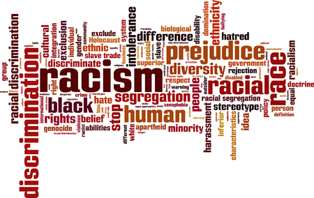 Racism word cloud concept.