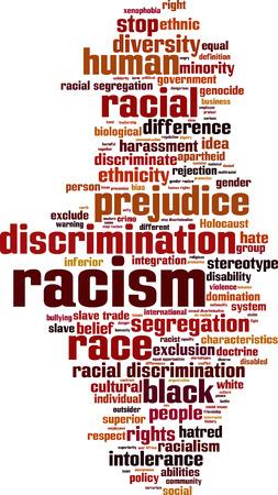 genocide: Racism word cloud concept.