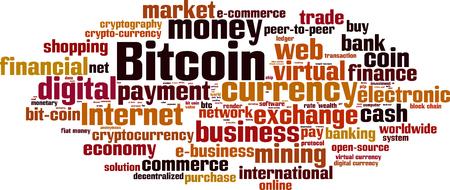 ledger: Bitcoin word cloud concept.
