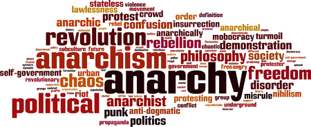 insurrection: Anarchy word cloud concept. Vector illustration