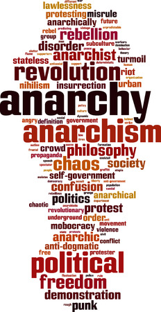 stateless: Anarchy word cloud concept. Vector illustration