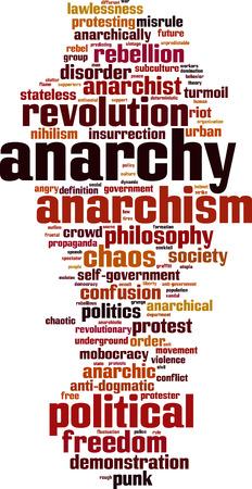 riot: Anarchy word cloud concept. Vector illustration