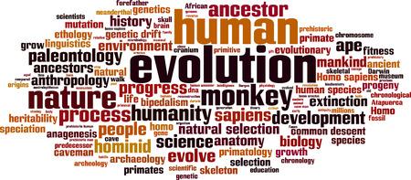 ancestor: Evolution word cloud concept. Vector illustration Illustration