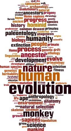 Evolution word cloud concept. Vector illustration Illustration