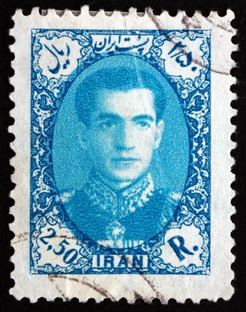 shah: IRAN - CIRCA 1957: a stamp printed in the Iran shows Mohammad Reza Shah Pahlavi, Shah of Persia, circa 1957