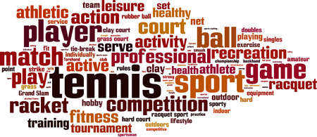 hard court: Tennis word cloud concept. Vector illustration Illustration