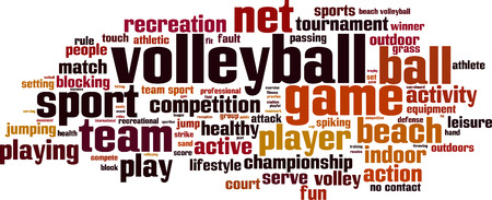 Volleyball word cloud concept. Vector illustration