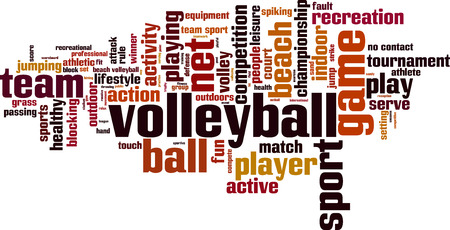 nets: Volleyball word cloud concept. Vector illustration