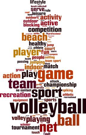 volleyball serve: Palabra Voleibol concepto de nube. Ilustraci�n vectorial