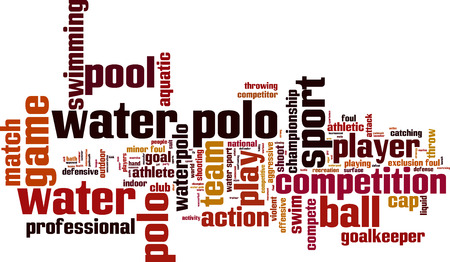 pool player: Water polo word cloud concept. Vector illustration