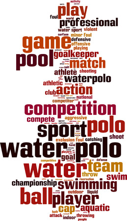 water polo: Water polo word cloud concept. Vector illustration