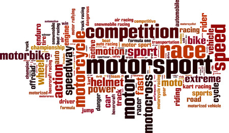 Motorsport word cloud concept.