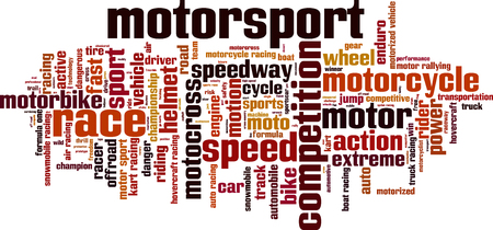 motorsport: Motorsport word cloud concept.