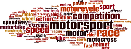 hovercraft: Motorsport word cloud concept.