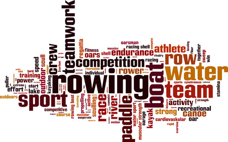 rowing: Rowing word cloud concept. Vector illustration