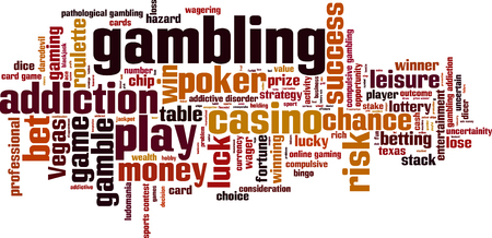 roulette online: Gambling word cloud concept. Vector illustration Illustration