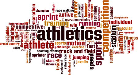 hammer throw: Athletics word cloud concept. Vector illustration