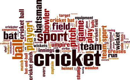 bails: Cricket word cloud concept. Vector illustration Illustration