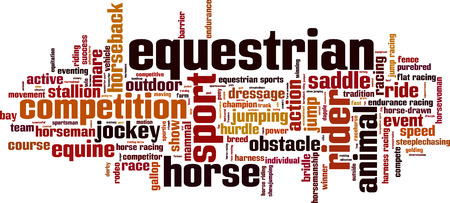 steeplechase: Equestrian word cloud concept. Vector illustration