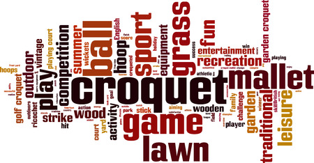 ricochet: Croquet word cloud concept. Vector illustration