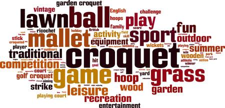 rn: Croquet word cloud concept. Vector illustration