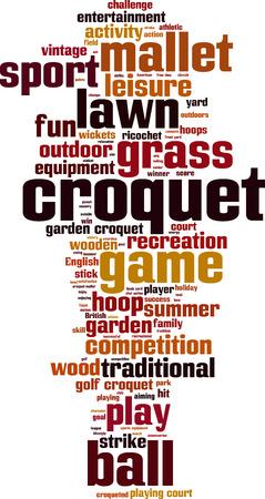 Croquet word cloud concept. Vector illustration Vector