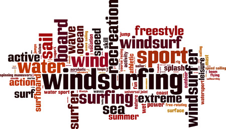 windsurf: Windsurf palabra concepto nube. Ilustraci�n vectorial