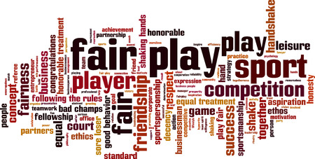 decency: Fair play word cloud concept. Vector illustration