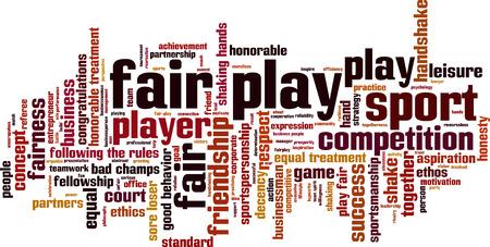 Fair play word cloud concept. Vector illustration