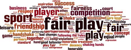 fair play: Fair play word cloud concept. Vector illustration