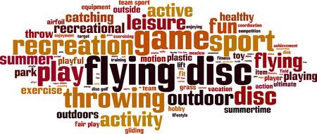 fair play: Flying disc word cloud concept. Vector illustration Illustration
