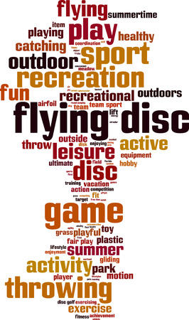 fair play: Flying disc word cloud concept. Vector illustration Illustration