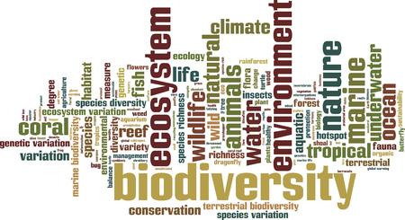 biodiversity: Biodiversity word cloud concept. Vector illustration