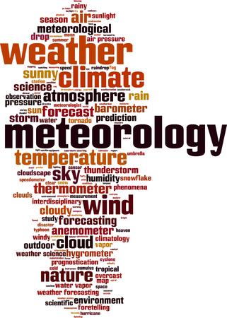 meteorology: Meteorology word cloud concept. Vector illustration