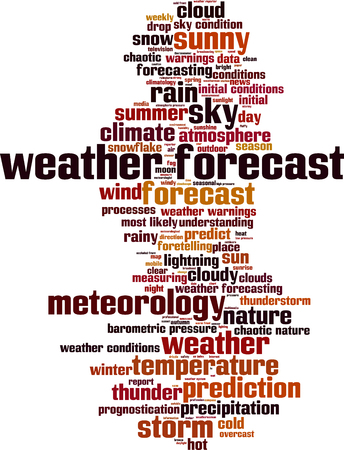 uv index: Weather forecast word cloud concept. Vector illustration