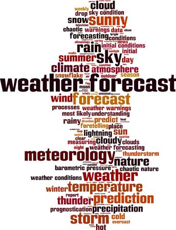 precipitation: Weather forecast word cloud concept. Vector illustration