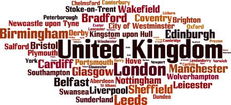 bristol: Cities in United Kingdom word cloud concept. Vector illustration