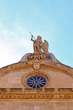 saint michael: Statue of Saint Michael, St. James Cathedral, Sibenik