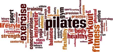 pilates ball: Pilates word cloud concept. Vector illustration Illustration