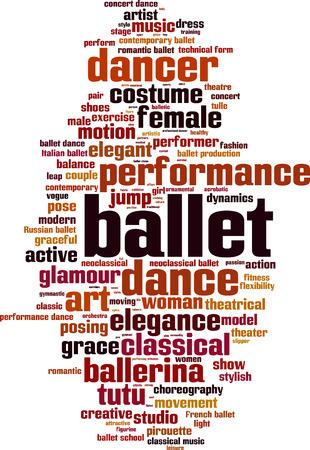 ballet studio: Ballet word cloud concept. Vector illustration Illustration