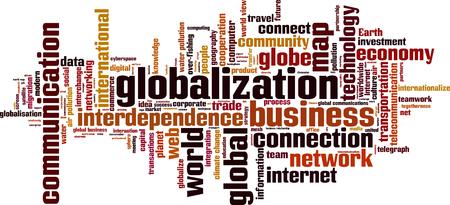 Globalization word cloud concept. Vector illustration  イラスト・ベクター素材