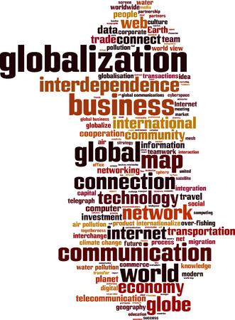 Globalization word cloud concept. Vector illustration Illustration