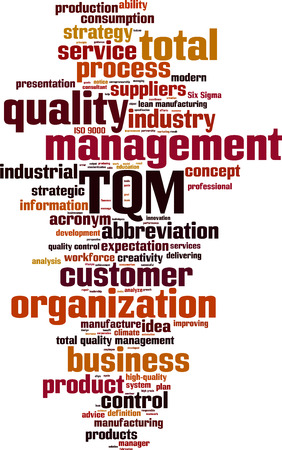 suppliers: TQM word cloud concept. Vector illustration Illustration